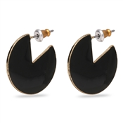 Pilgrim Gold Plated Enamel Earrings