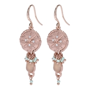 Pilgrim Mya Rose Gold Plated Seal Earrings