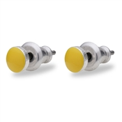 Pilgrim Yellow Stud Earrings