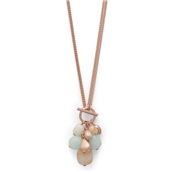 Pilgrim Lilian Rose Gold Plated Green Necklace