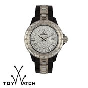ToyWatch Gems Black & Silver
