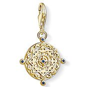 Thomas Sabo Gold Panel Compass Charm