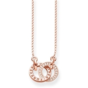Thomas Sabo Rose Gold Together Forever Necklace