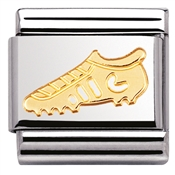 Nomination Gold Football Boot Charm