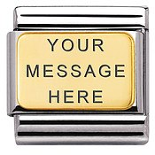 Nomination Gold Plate Engraving Charm