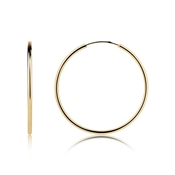 Argento Gold Large Hoop Earrings