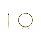 Argento Gold Medium Hoop Earrings