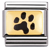 Nomination Paw Print Charm