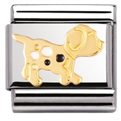 Gold Dog Charm by Nomination