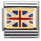 Union Jack Flag Charm by Nomination