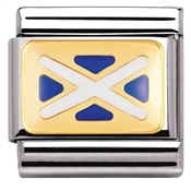 Nomination Scottish Flag Charm