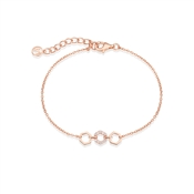 Argento Rose Gold Honeycomb Open Bracelet