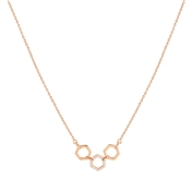 Argento Rose Gold Honeycomb Open Necklace