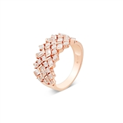 Argento Rose Gold Criss Cross Ring