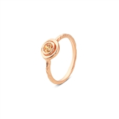 Argento Rose Gold Dot Border Champagne Ring