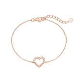 Argento Rose Gold Dot Heart Bracelet