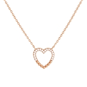 Argento Rose Gold Dot Heart Necklace