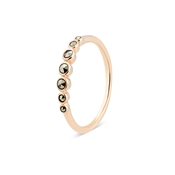 Argento Stacking Rose Gold Marcasite Band Ring