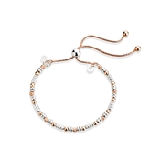 Argento Rose Gold Mix Bead Pull Bracelet