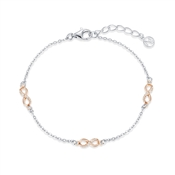 Argento Rose Gold Mix Infinity Bracelet