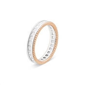 Argento Rose Gold Mix Crystal Ring