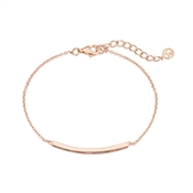 Argento Rose Gold Rainbow Bar Bracelet
