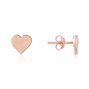 Argento Rose Gold Heart Stud Earrings