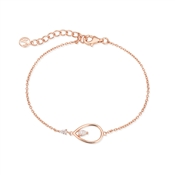 Argento Rose Gold Teardrop Crystal Bracelet