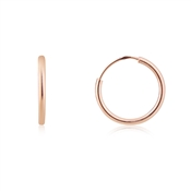 Argento Rose Gold Small Hoop Earrings