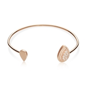 Argento Rose Gold Stellar Teardrop Bangle