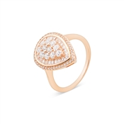 Argento Rose Gold Stellar Teardrop Ring