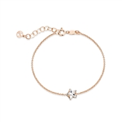 Argento Rose Gold Crystal Star Bracelet