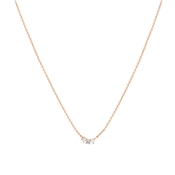 Argento Rose Gold Triple Purple CZ Opal Necklace