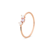 Argento Rose Gold Triple Purple CZ Opal Ring