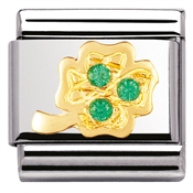 Nomination Green Four Leaf Clover Charm