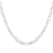Argento Silver Layer Bead Necklace