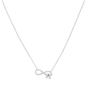Argento Silver Infinity loop Necklace
