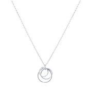 Argento Silver Interlinked Layer Circle Necklace