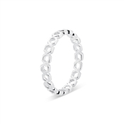 Argento Silver Open Honeycomb Band Ring