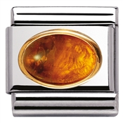 Nomination Oval Amber Charm