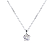 Argento Silver Crystal Flower Necklace
