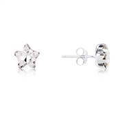 Argento Silver Crystal Star Earrings