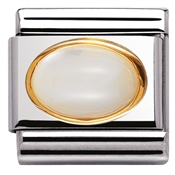 Nomination Oval Mother Of Pearl Charm