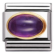 Nomination Oval Amethyst Charm