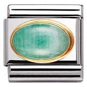 Nomination Oval Emerald Charm
