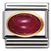 Nomination Oval Ruby Charm