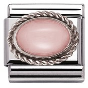 Nomination Framed Pink Opal Stone Charm