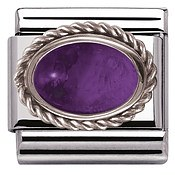 Nomination Framed Amethyst Stone Charm
