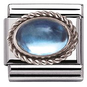Nomination Framed Light Blue Topaz Charm