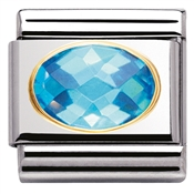 Nomination Blue Cubic Zirconia Charm